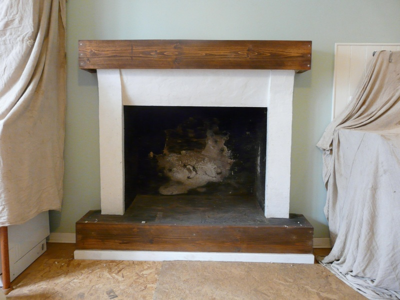 The original fireplace.