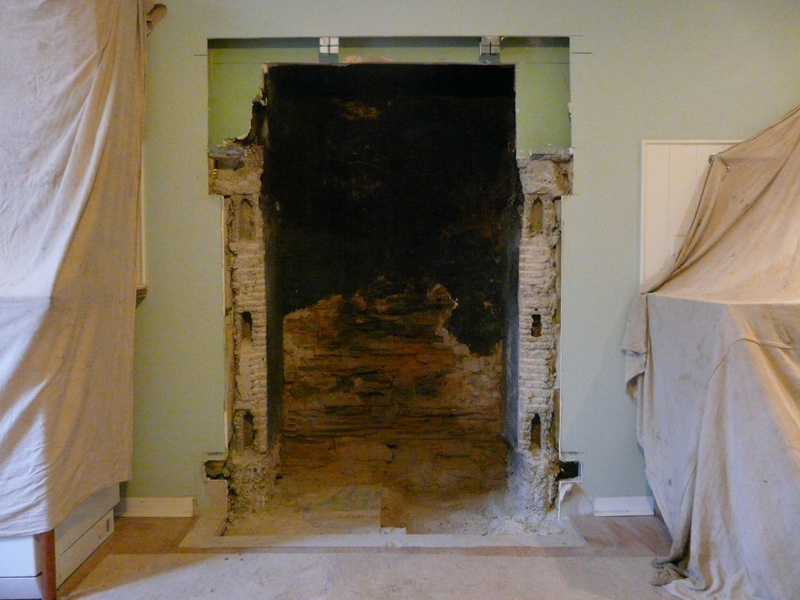 Fireplace removed